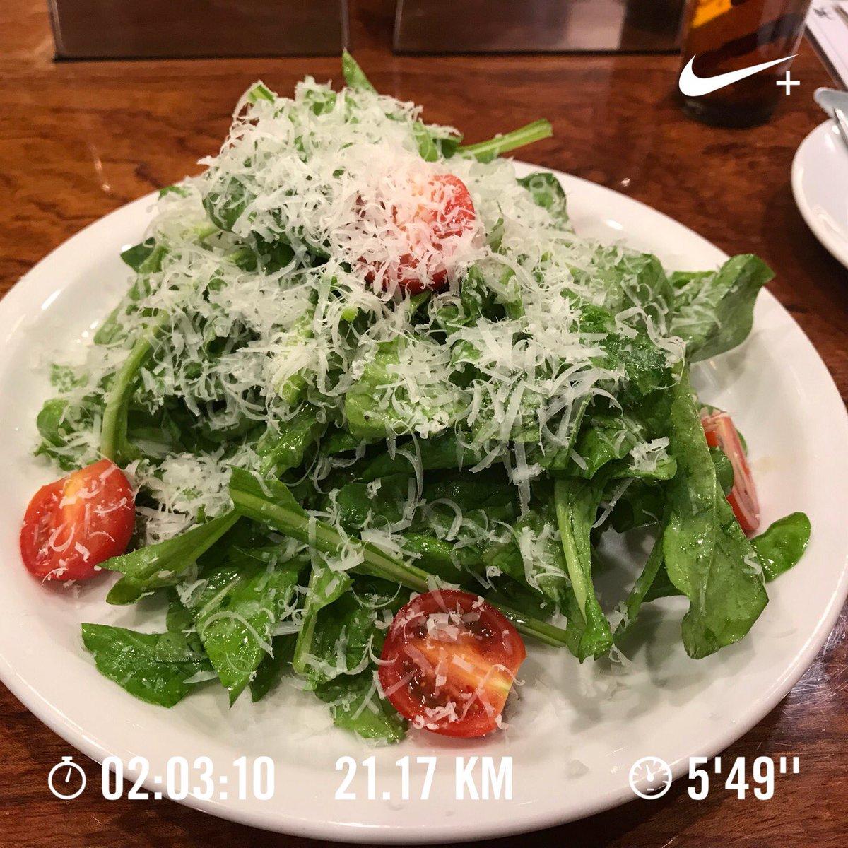 test ツイッターメディア - 抗酸化作用があるルッコラだけのサラダを食べて、スパルタンレース beast対策にハーフマラソン。ここまで来ると走れて当たり前の世界だから、しっかり走り切れるスタミナと根性を身につけないと! #スパルタンレース https://t.co/vHCOULY9WI
