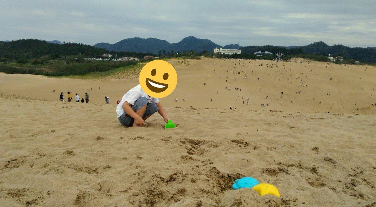 test ツイッターメディア - 広大でサラッサラな砂場に大興奮のむすこ。娘は4回も馬の背を登り降りしてた。元気元気。 #鳥取砂丘 https://t.co/QDVIc5Mtd3