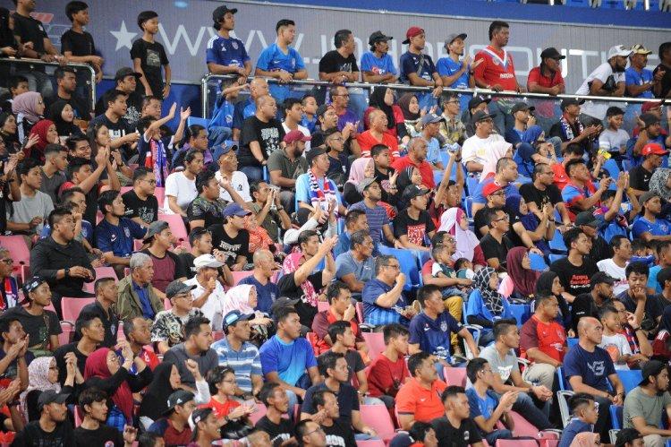18,850 penyokong JDT yang hadir ke stadium semalam. Foto: Footballmalaysia.com