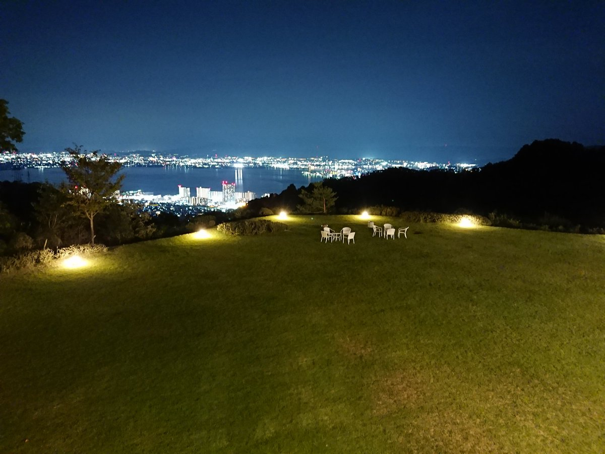 test ツイッターメディア - ホテルからの景色!奥が琵琶湖ね。 https://t.co/EhwygjrDQi