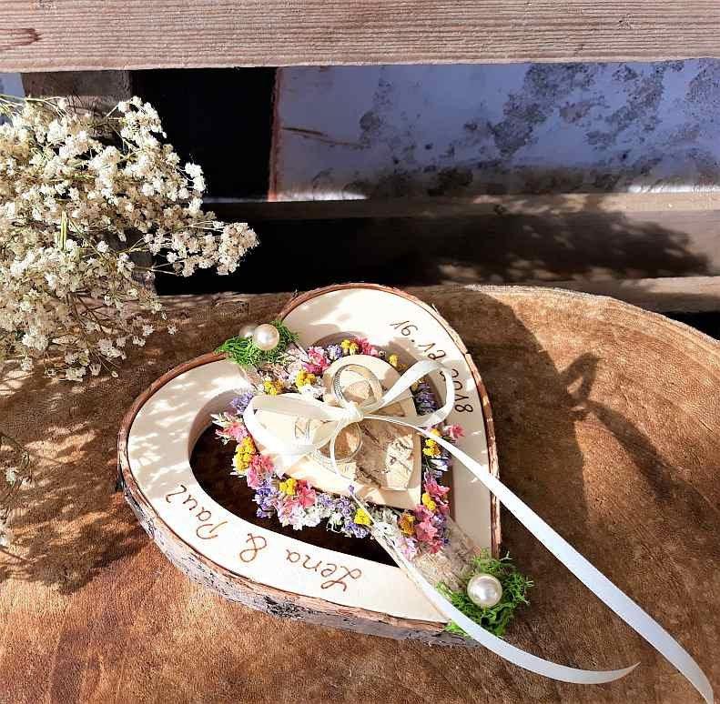 Hochzeit Ringkissen Ringhalter Holz Unendlichkeitszeichen Fur