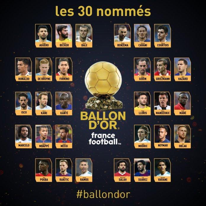"""Résultat de recherche d'images pour """"ballon d'or 2018"""""""