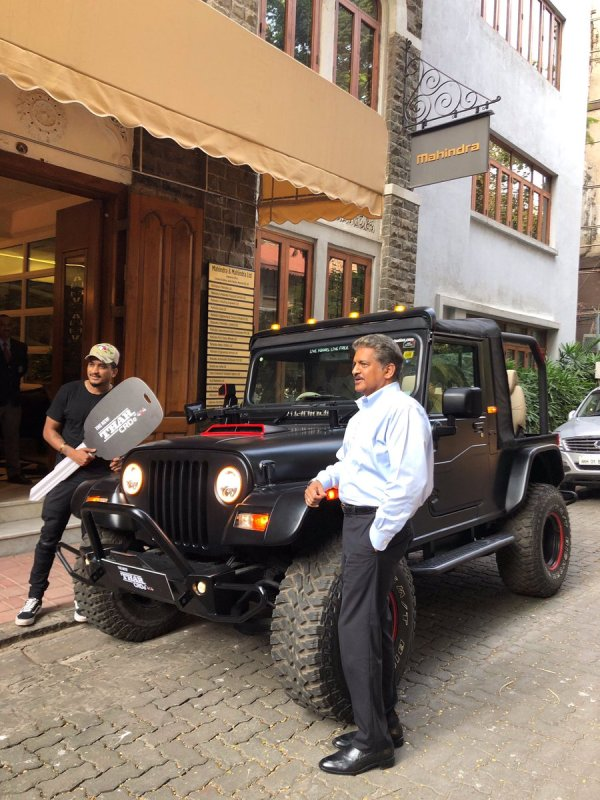 "Anand Mahindra the chairman of Mahindra Group gifted him a ""Mahindra Thar CRDe"" on 8 October 2018."