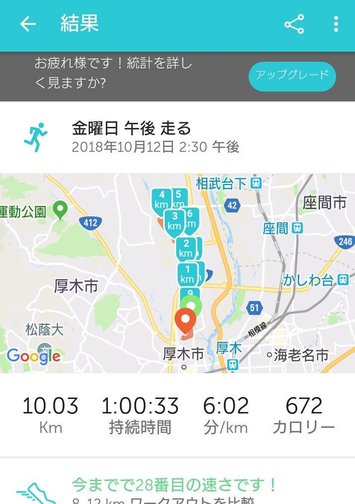 test ツイッターメディア - 12/2湘南国際マラソンに向けて始動! 久しぶりの10キロ、意外と走れたね(。-∀-) https://t.co/d0VpKIWp1y