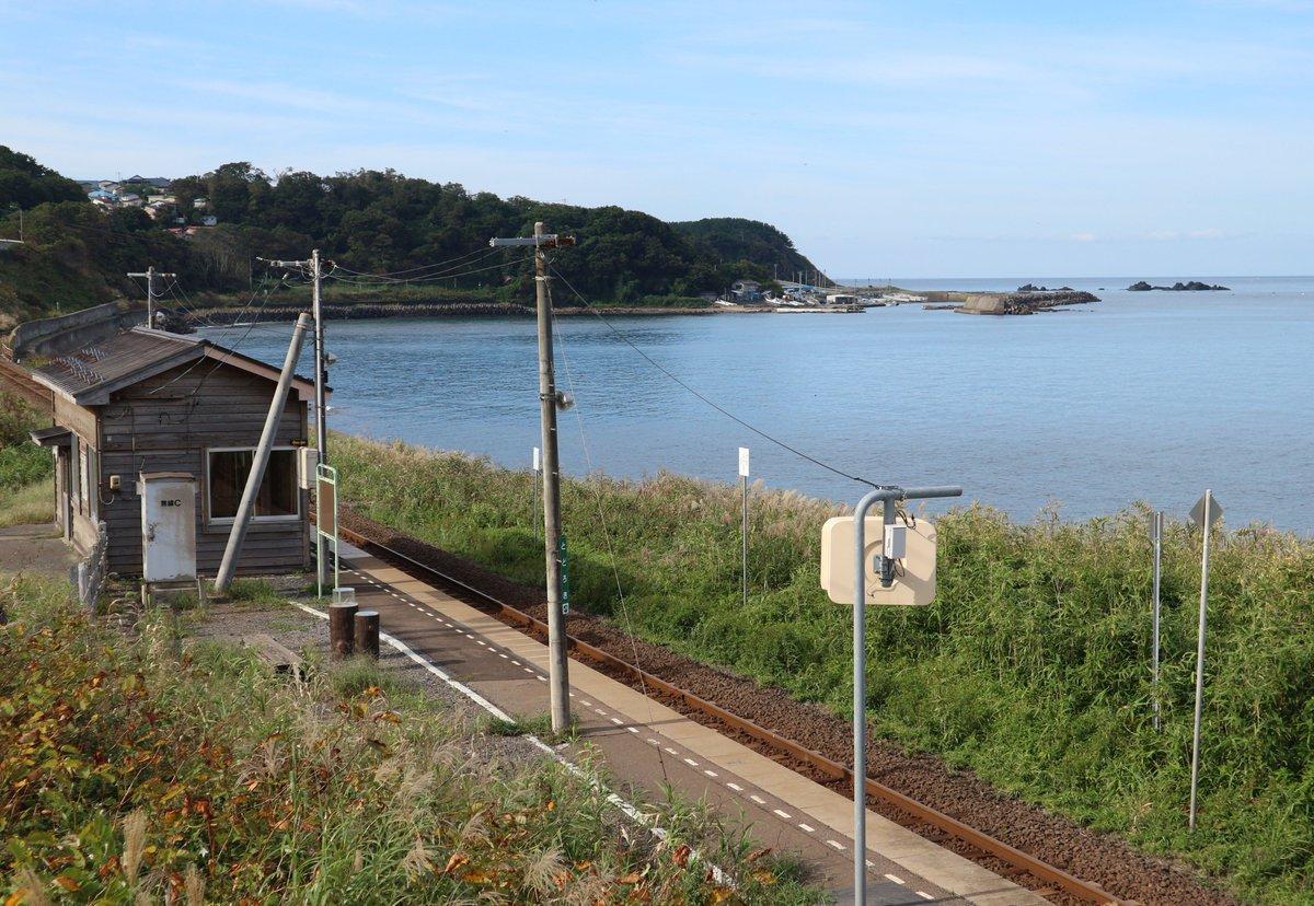 test ツイッターメディア - 驫木駅の訪問記 五能線にある秘境駅の驫木駅をご存知でしょうか? この駅は駅前が日本海広がる絶景なんです!! この度、旅をしている最中に訪問する機会があったので超詳細な訪問記をまとめてみました。 https://t.co/6pUxlMQGD5  #驫木駅 #五能線 #秘境駅 https://t.co/wXiB9BaqSo