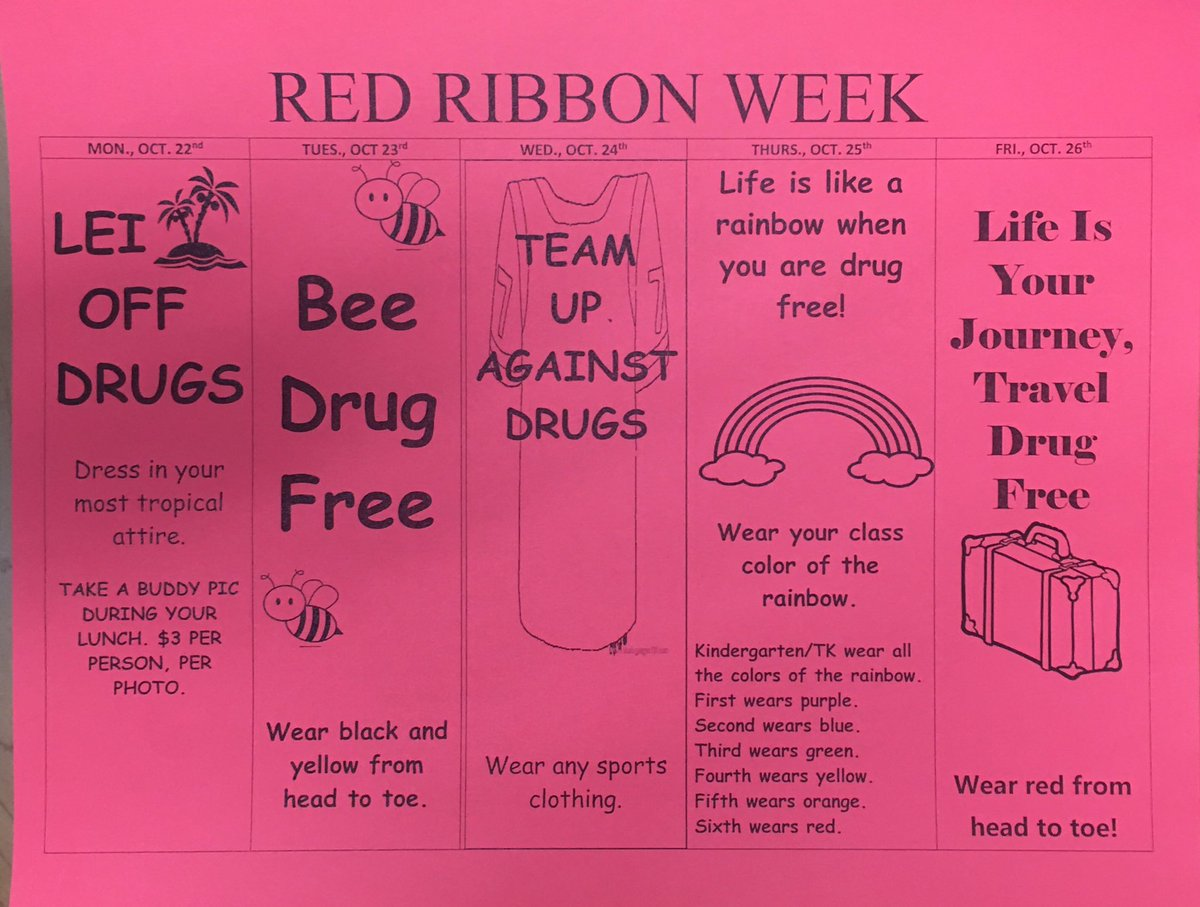 Haynes Elementary On Twitter Red Ribbon Week Is Next