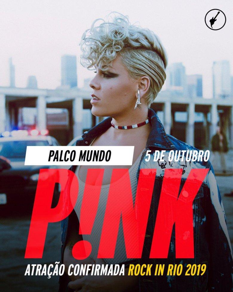 Resultado de imagen para pink en rock in rio