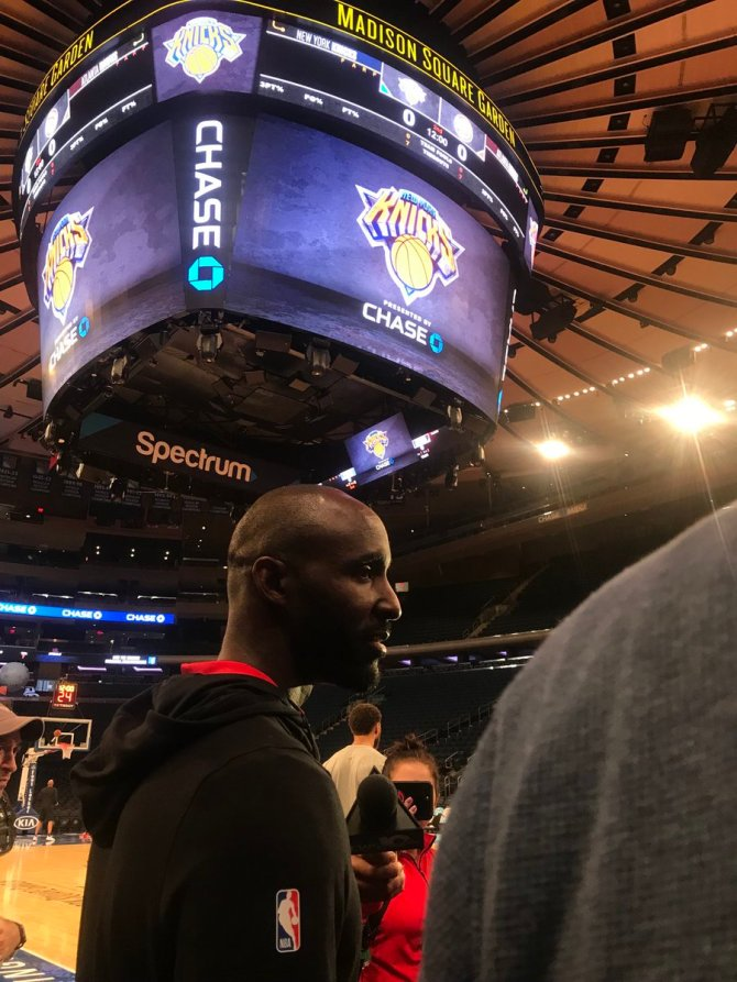 "lloyd pierce seems excited to make his head coaching debut at the garden   also, on trae young's passing: ""no area on the floor is out of his reach.""  also also: ""i'm looking to recreate linsanity tonight!"""