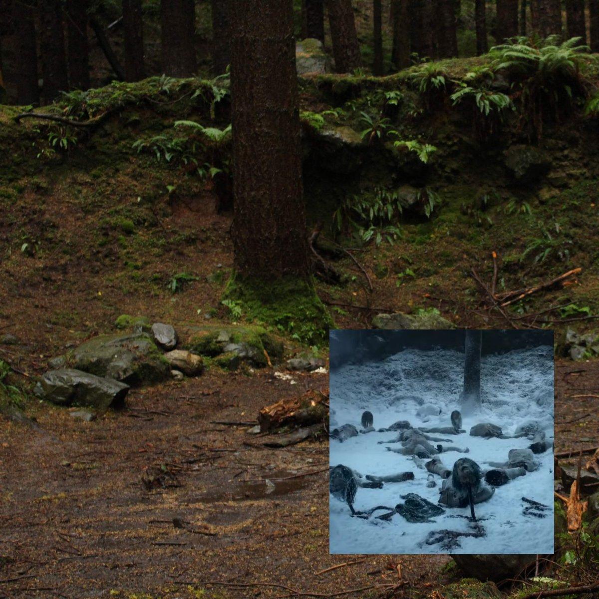 test ツイッターメディア - 【GoTロケ地ツアー】 プロローグでロイス、ウィルたちがたどり着いた野人の殺戮現場。アレなんで小さめに載せます🤮  雪を表現するために紙やタルクを撒いて、撮影後に全部掃除したそう🤫 野人少女は実は19才なんだって!彼女を引っ掛けてた木の穴も現存。  #GameofThrones #ゲームオブスローンズ #GoT https://t.co/hAFGPKvKq6