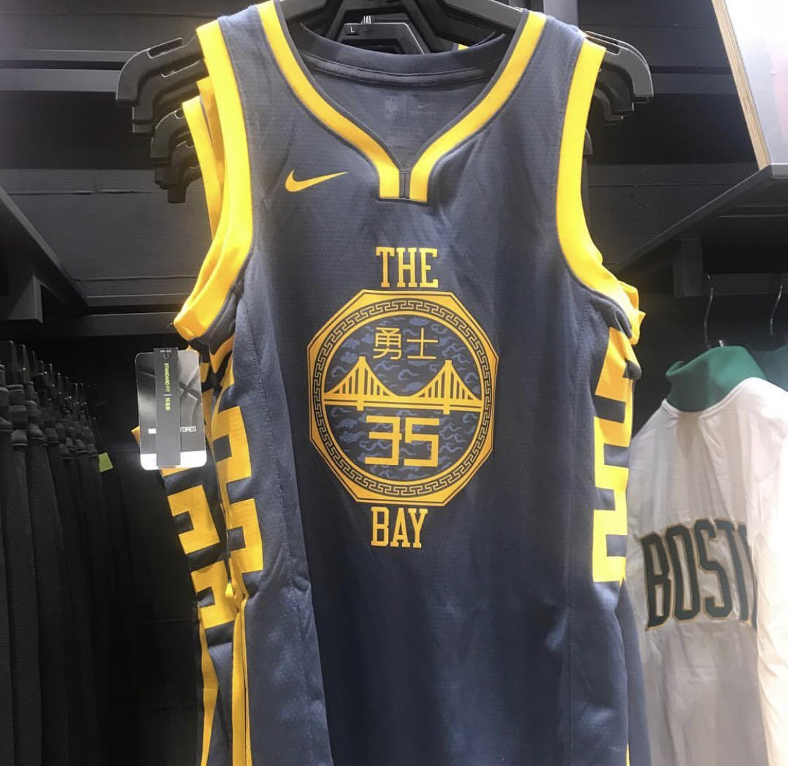 """86e584efc66 The Lakers' """"City Edition"""" uniforms were leaked in the past week or so, and  have made a debut in a retail store. LeBron James is set to rock purple ..."""