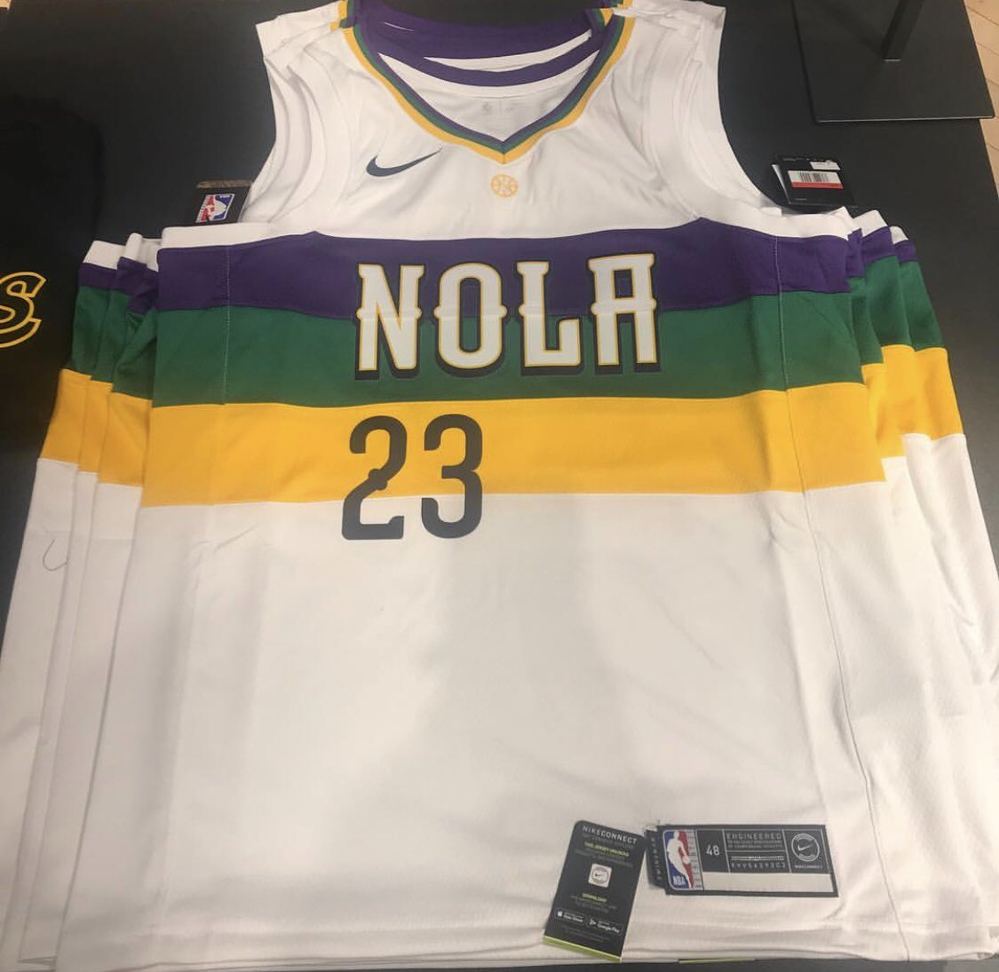 """7ce25e21 The Lakers' """"City Edition"""" uniforms were leaked in the past week or so, and  have made a debut in a retail store. LeBron James is set to rock purple ..."""