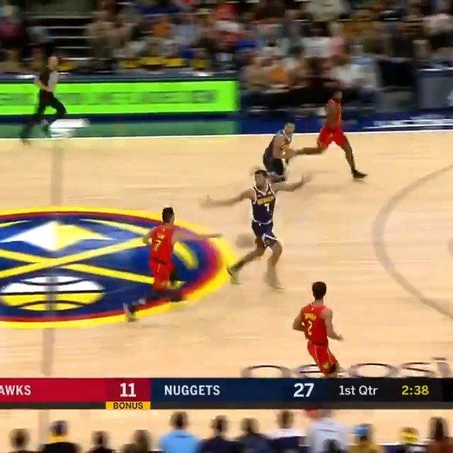 """""""What a pass!""""  Jeremy Lin sets up Alex Poythress on #NBA League Pass.  #TrueToAtlanta 23 #MileHighBasketball 35  💻📱: https://t.co/iPjKqpSDr5"""