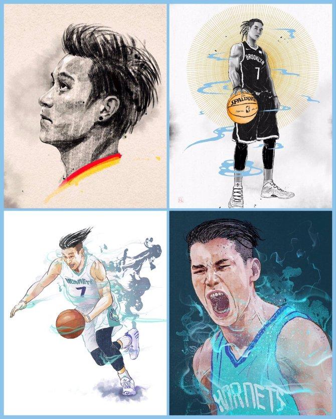Congrats @jlin7 for getting his 5000 points as a @nba player. @atlhawks   #atl #jeremylin #atlanta #portrait #Hawks #newyork #atlantahawks #nba #sport #illustrator #Illustration #art #artist #portrait #artdirection #editorial #這就是灌籃 #linsanity #adidas #branding #林書豪
