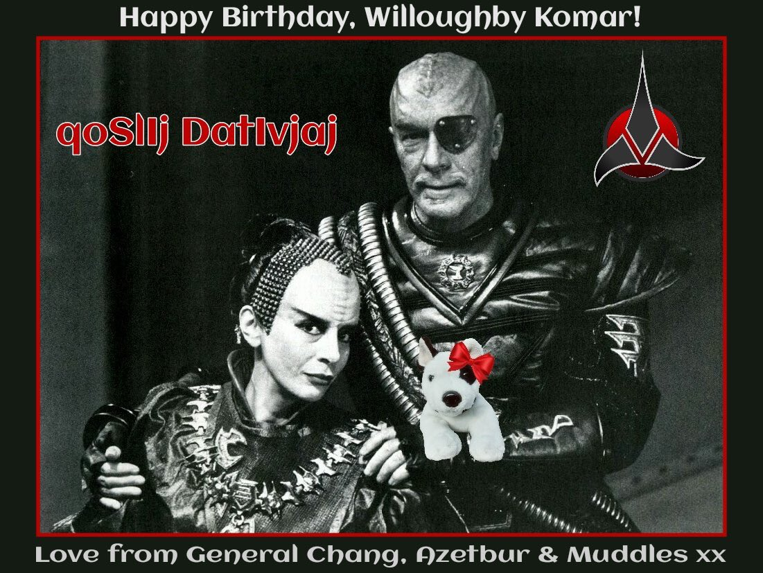 Azetbur En Twitter Happy Birthday Willoughby Komar General Chang Mudz Helped Me Make This Klingon Birthday Cake For You It Is For You To Share With Your Friends Humans Qapla