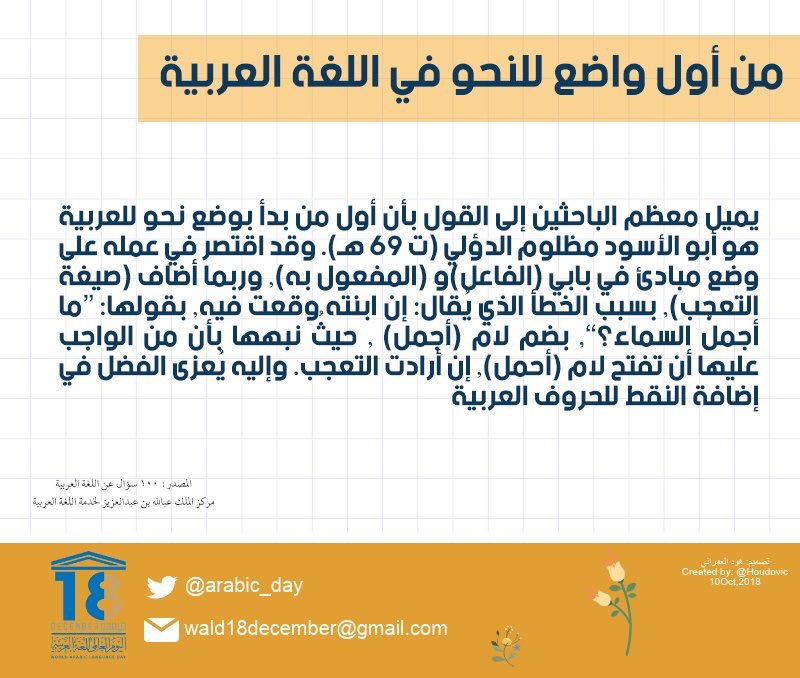 اليوم العالمي للغة العربية On Twitter مجموعة نماذج صالحة