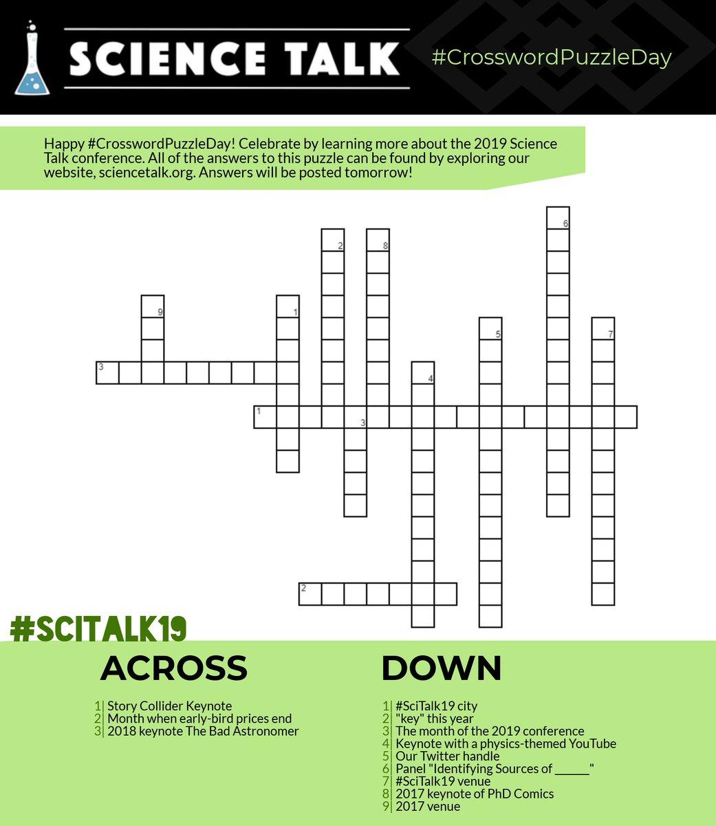 Easy Science Crossword Puzzles Printable