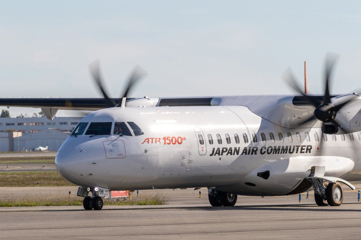 Resultado de imagen para ATR delivers 1,500 aircraft Japan Air Commuter