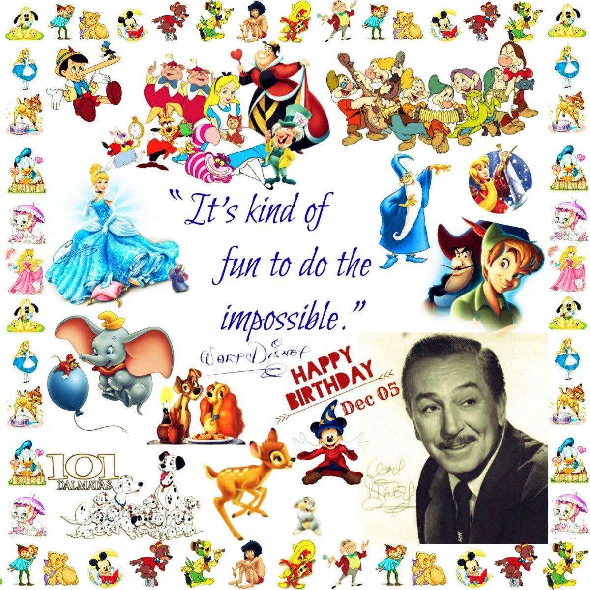 Connecting With Walt On Twitter Happy Birthday Walt Disney