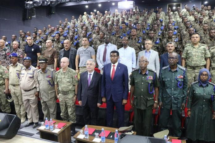 "Turkey in Somalia on Twitter: ""We are proud that the first stage of the  ""Training the Trainers of Somali Police Special Forces"" programme was  completed and the graduates received their certificates at"