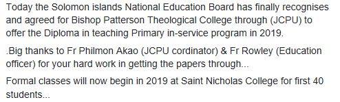 News from ACoM Education