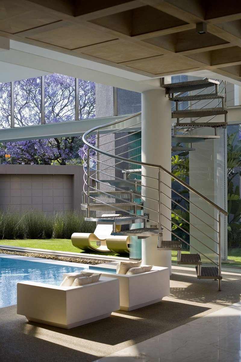 Homedit On Twitter Modern Outdoor Stair Railing Designs And | Modern Outdoor Stair Railing | Front Door | Outer | Cool | House | Craftsman Style