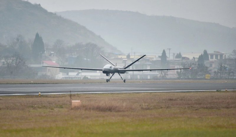 Maiden flight of Wing Loong I-D unmanned aerial vehicle (UAV) on Dec. 23, 2018.