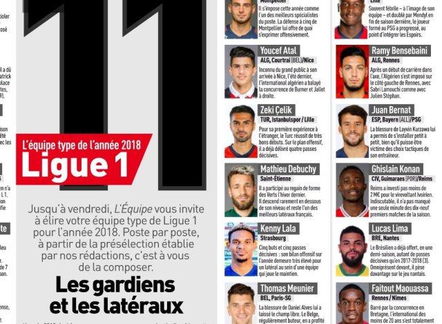 عطال في التشكيلة المثالية لابرز اكتشافات البطولة الفرنسية 25