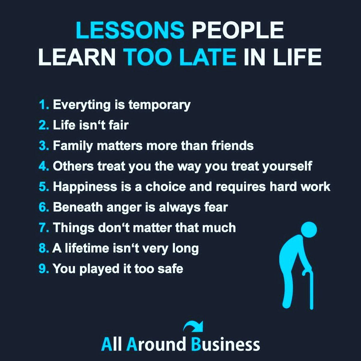 life lessons people learn too late