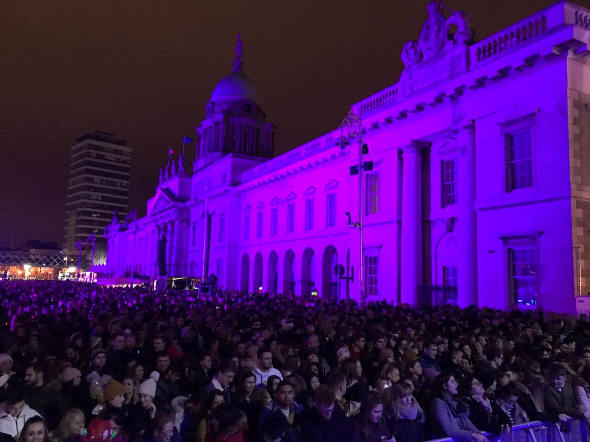 test Twitter Media - Getting ready for the new year with RTE live from the Customs house Quay Dublin https://t.co/WESceP0Je6