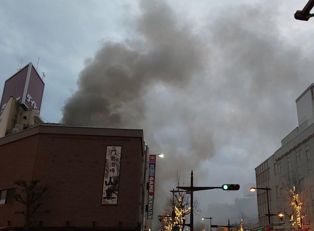 長野市南長野南石堂町で火災の現場画像