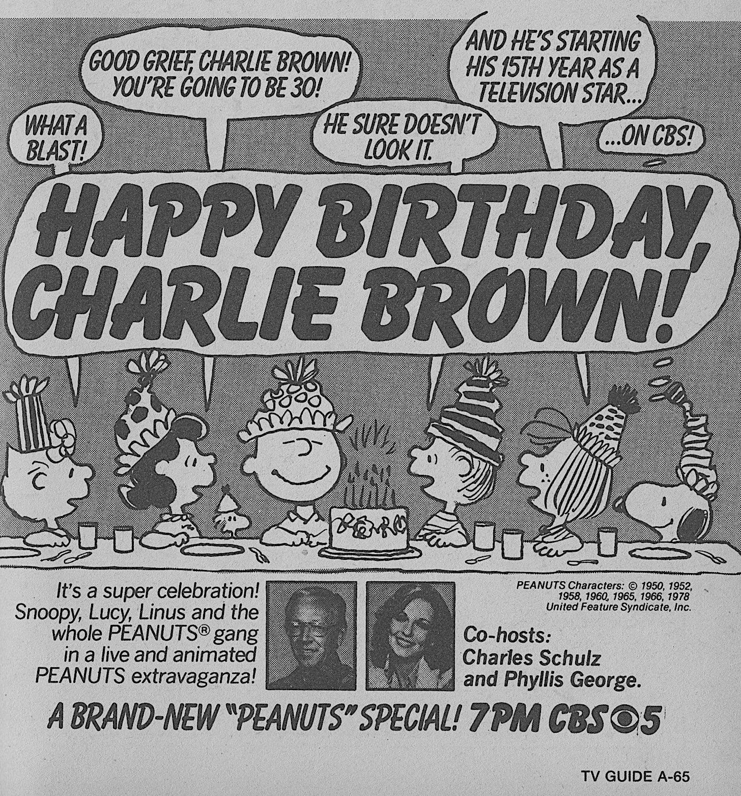 Retronewsnow On Twitter Cbs Primetime January 5 1979 Happy Birthday Charlie Brown