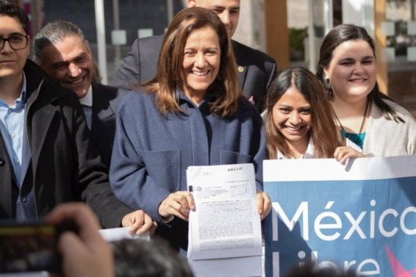 Margarita Zavala, tras solicitar formalmente ante el INE la creación del partido político nacional México Libre