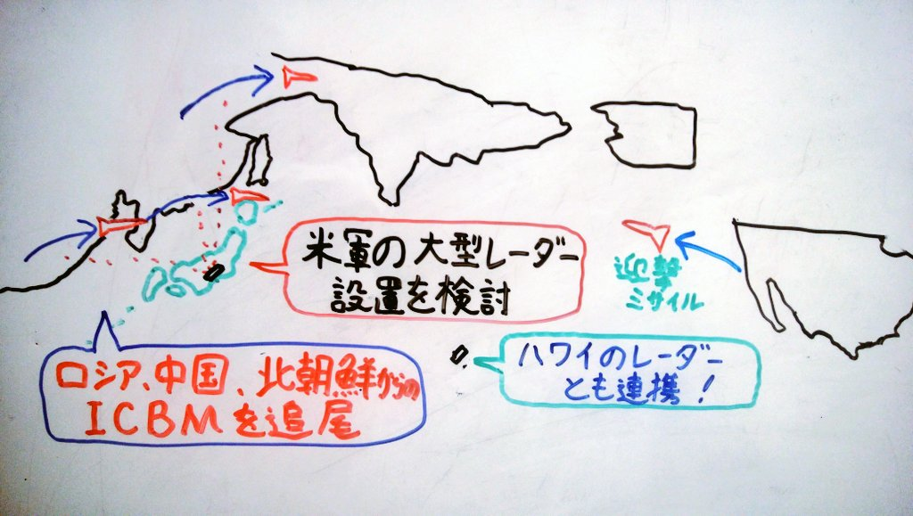 test ツイッターメディア - 【#今朝のニュース】アメリカを狙ったICBM(大陸間弾道ミサイル)を迎え撃つ助けとするため、アメリカ政府が大型のレーダーを日本に配備できるよう求める意向を持っていることがわかりました。中国、ロシアや北朝鮮からの攻撃を意識したもので、レーダーが得た情報は自衛隊とも共有される見通しです。🚀 https://t.co/WiUOSpKp2h