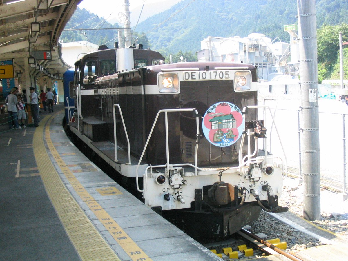 test ツイッターメディア - 奥多摩停車中の写真と、同日に撮影した201系(四季彩旧塗装に青編成軽装車)の写真もアップしてみるか。今では待っても待ってもE233-0しか来ない上に臨時列車も減って非常に寂しい。2004年7月4日撮影。#DD51 #DE10 #201系 #青梅線 https://t.co/C0AxuR07Ta