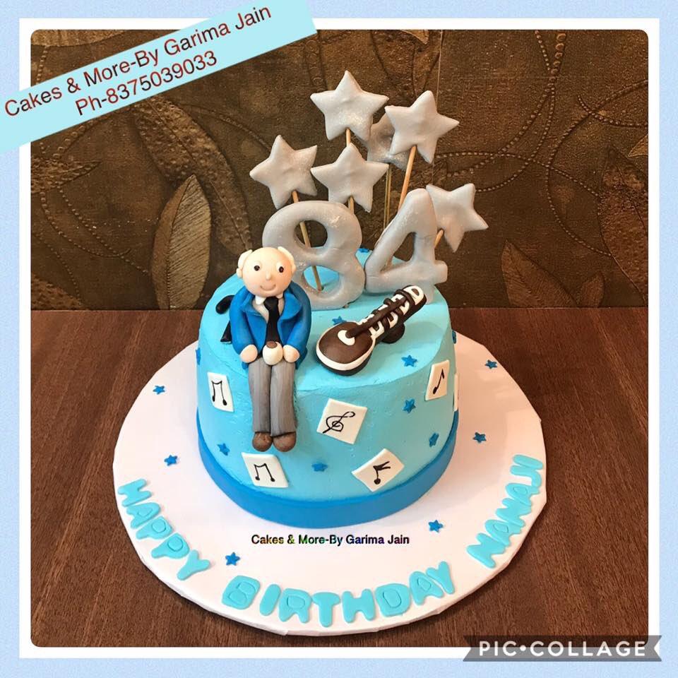 Garima Jain در توییتر Creamcake 84thbirthdaycake Granddadbirthdaycake Cake Fr Granddad S 84th Bday Granddad Wid His Stick Sitar Musical Notes 84 Stars Happy Birthday Nanaji Https T Co Tvv51qrjtw