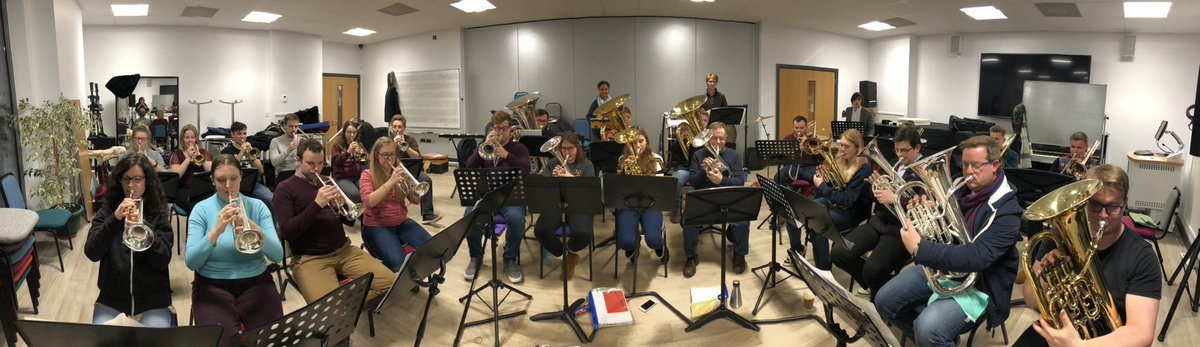 Good luck to the @chiunibrassband for this weekend. We're looking forward to working with some of you later in the month!