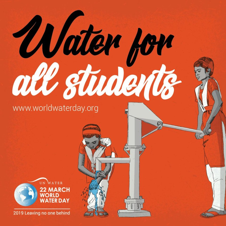 Whoever you are, wherever you are, water is your human right. 1 in 4 primary schools have no drinking water service. Pupils use unprotected sources…