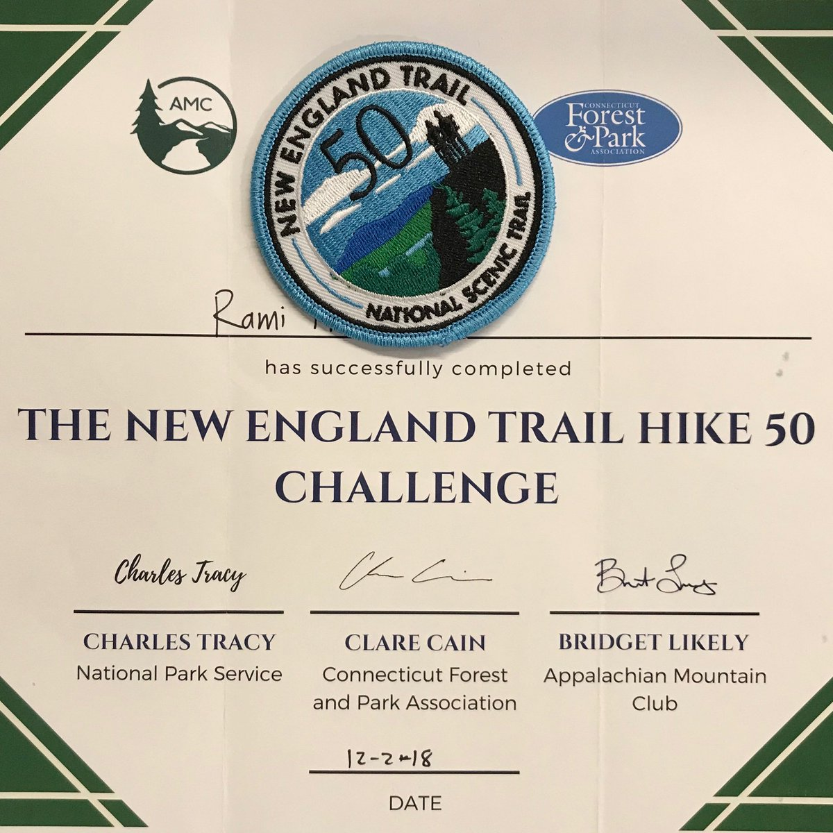 The things I do for a patch of New England Trail 50 mile challenge
