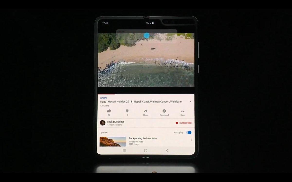 test ツイッターメディア - Samsungの折りたたみスマホ・折りたたみ時4.6インチ・開くと7.3インチ・カラバリはコスモブラック・スペースシルバー・イエロー・ブルー・開いた状態では最大2アプリのマルチタスクが可能マジで神すぎない?マルチタスクが出来るのはめちゃくちゃ大きい。 https://t.co/1JEQDbTYV6