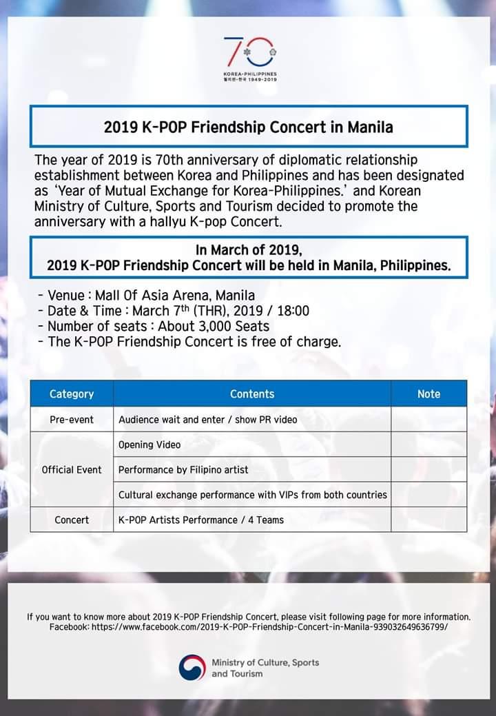 K Pop Friendship Concert Set In March Kstreetmanila