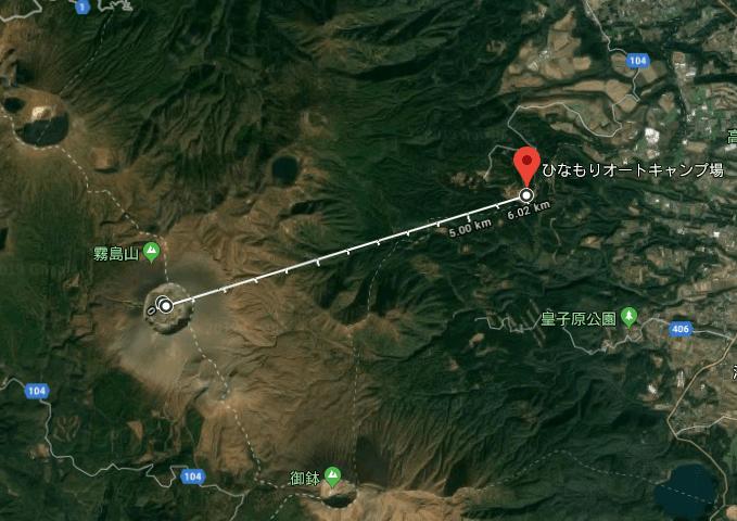 test ツイッターメディア - 新燃岳から6キロか。風下だが丘の上だから、ここでキャンプしててもまあ死ぬことはなさそうだ。車は火山れきでボコボコになるかもしれないが。 https://t.co/ZMcq6O3xmO