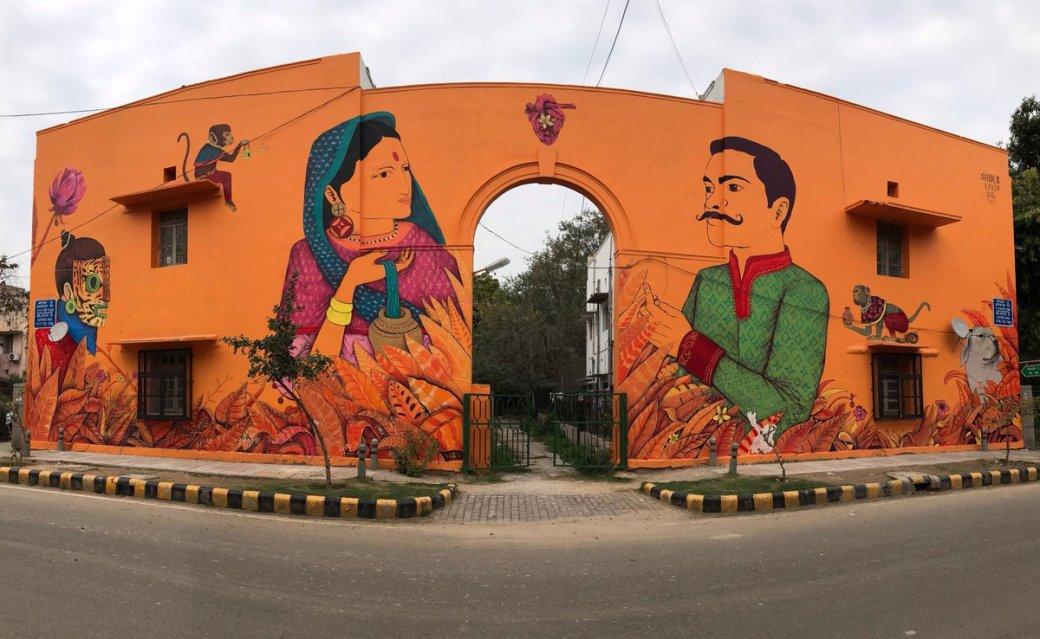 Khirki Village Graffiti