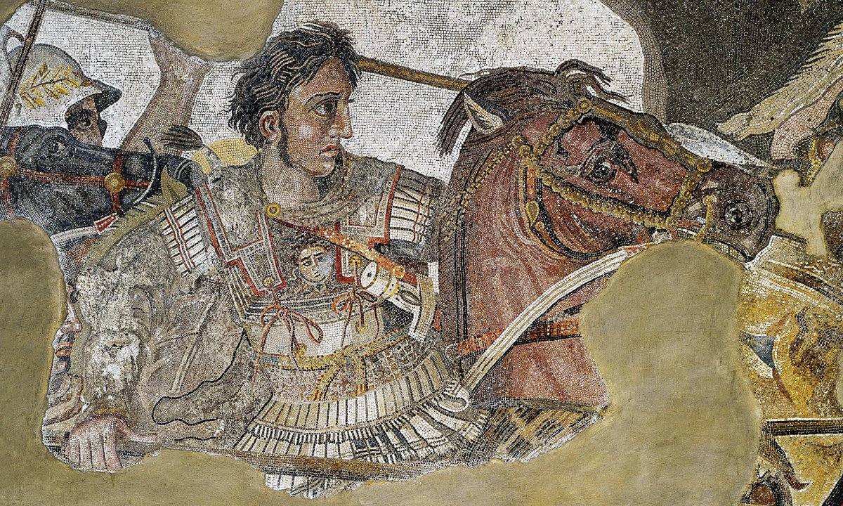 The Alexander Mosaic of Pompeii, depicting Alexander the Great, king of Macedon, wearing the linothorax[3]