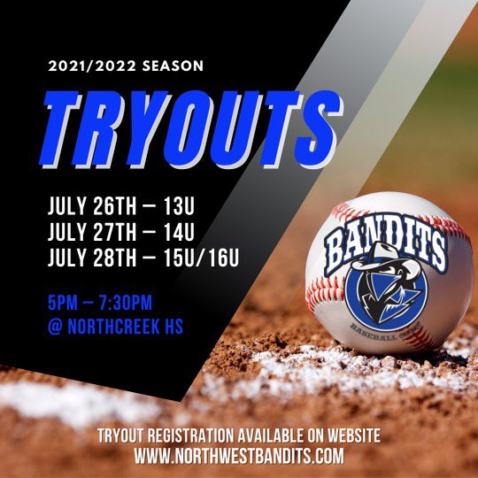 test Twitter Media - 🚨 NW Bandits Tryouts 🚨  Make sure you register for tryouts on the Bandit website 💪 https://t.co/VmeDo8BCN5