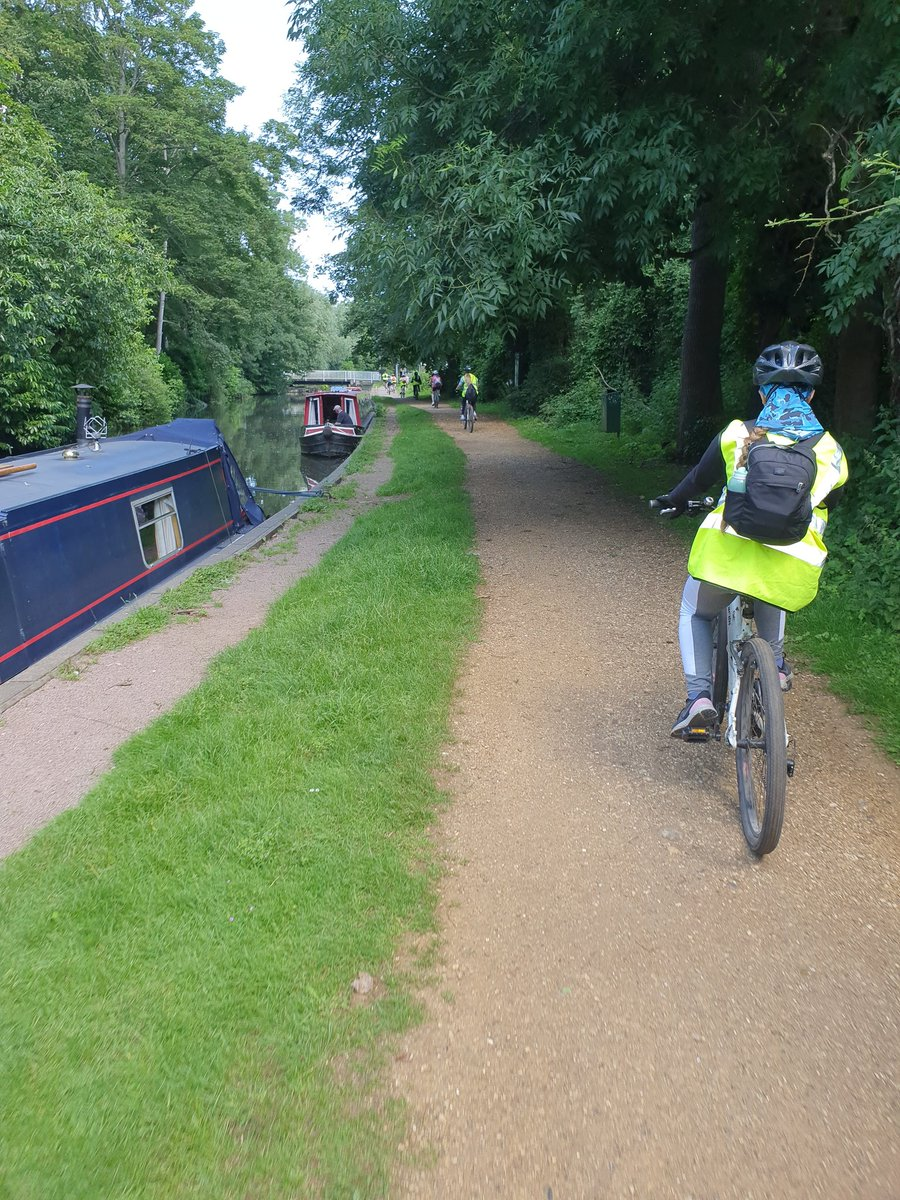 Great effort from those on the cycling reward trip. 16k complete down the Kennet and Avon canal 🚴♀️^tl