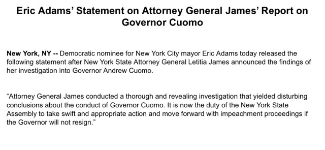 NYC Mayoral Election Opinion Polls 2021: De Blasio endorses Eric Adams as Mayor