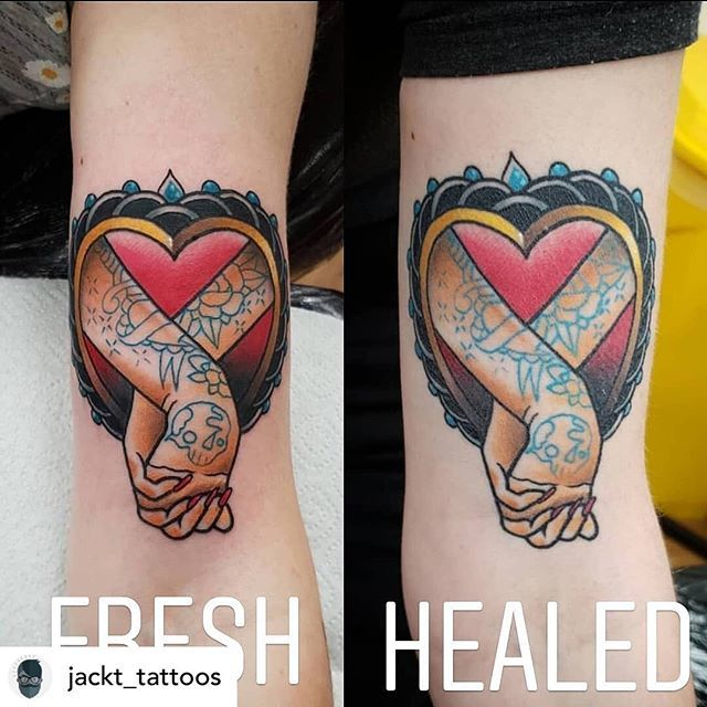 Healed Vs Fresh Tattoo By Jack At Jackttattoos Bookings Info
