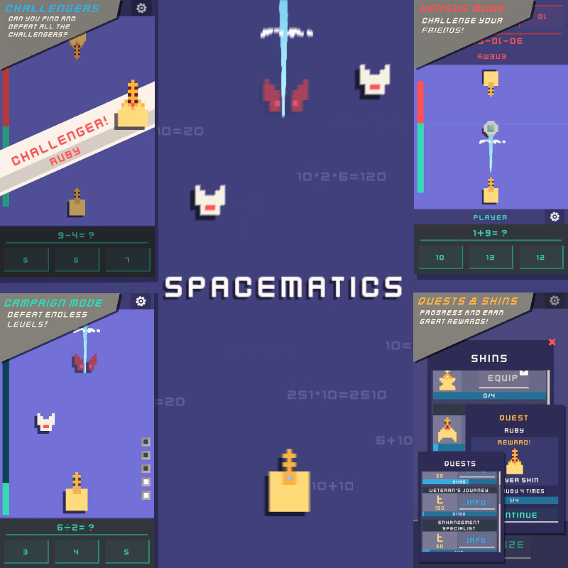 spacematics mental math game