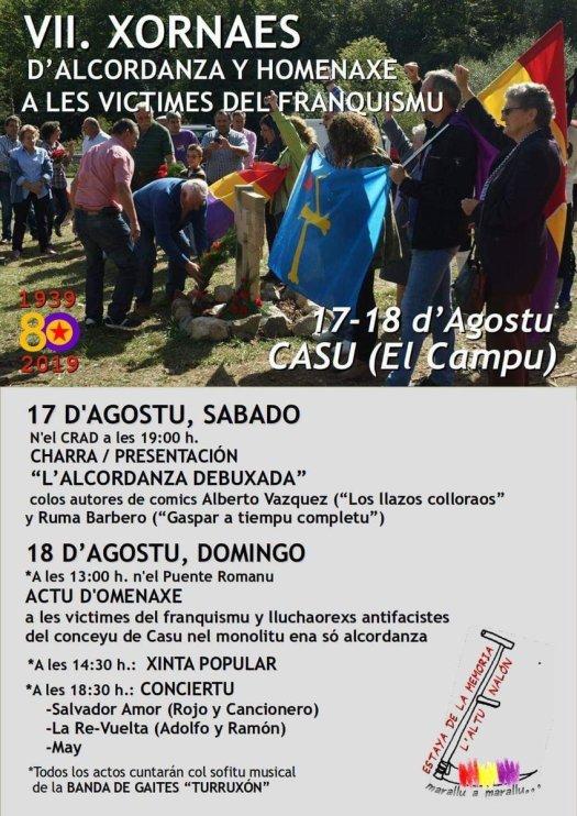 test Twitter Media - Participamos hoy en el Campu de Casu #Asturies en el homenaje a las víctimas del franquismo @FAMYR_Asturias @juan_uhp  @apces https://t.co/PkK16imGYV