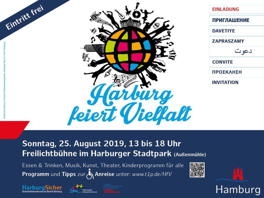 test Twitter Media - Harburg feiert Vielfalt am Sonntag, 25. August 2019  Von 13 – 18 Uhr erwartet die Besucherinnen und Besucher im Harburger Stadtpark ein buntes Programm.  Der Eintritt ist frei - seien Sie dabei! Alle Infos 👉 https://t.co/cObP12A3Ag #Harburg #Vielfalt https://t.co/cNzwjQyb5e